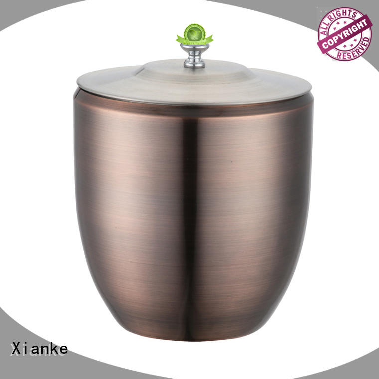 stainless steel personalized ice bucket carry for restaurant Xianke