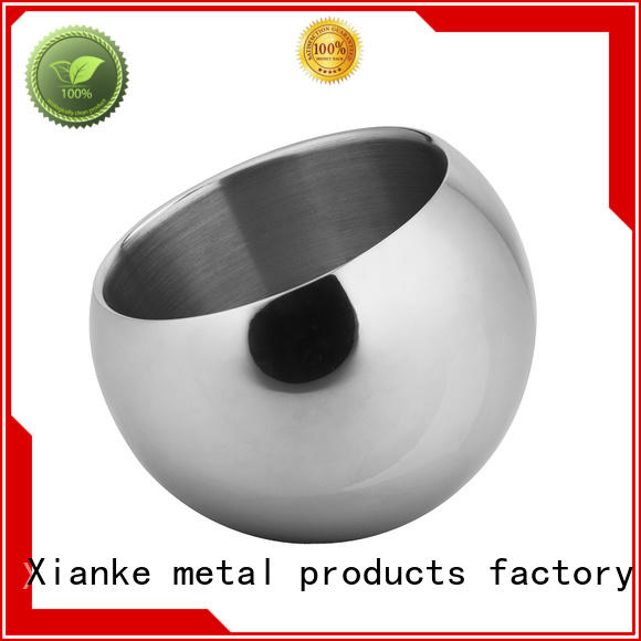 Xianke durable stainless steel ice bucket with lid ball for bar