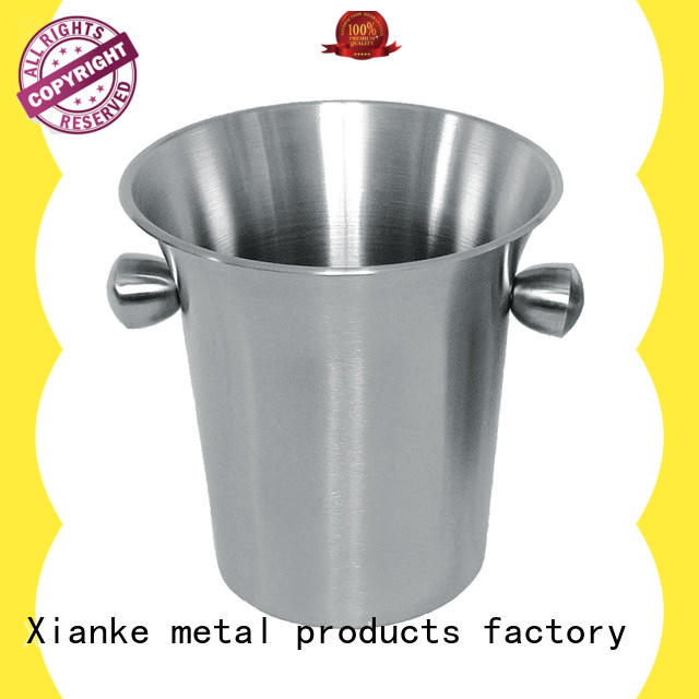 Xianke divider ice bucket stainless bottle for party