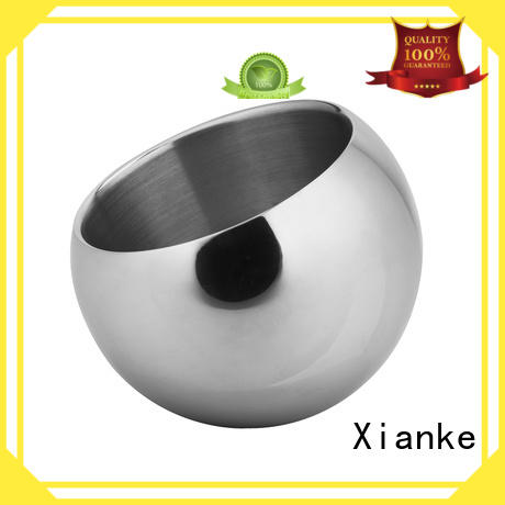 Xianke stainless steel personalised metal ice bucket carry for wine