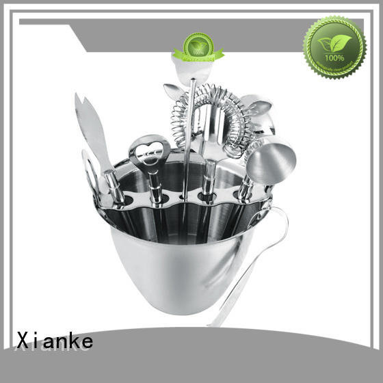 Xianke copper stainless steel cocktail bar set black for wholesale