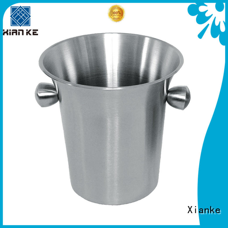 Xianke shaped ice bucket stainless loop for club
