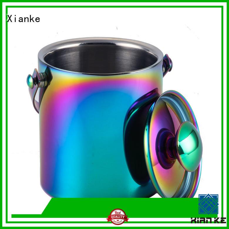 Xianke Brand bottle stainless steel ice bucket with lid zinc supplier