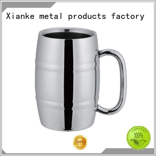 Xianke double stainless steel goblet design for beer