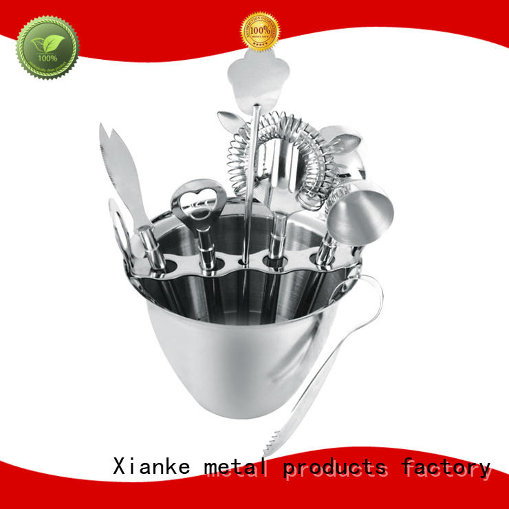 Xianke vintage stainless steel martini set black for club