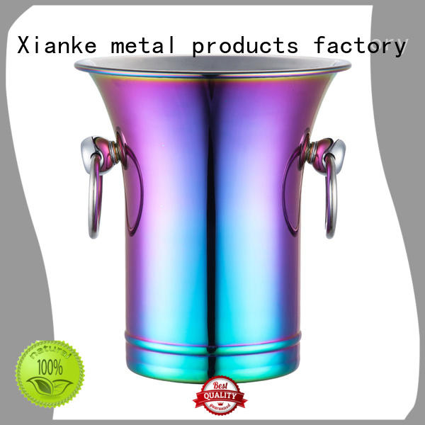 Xianke stainless steel ice bucket supplier tong for party