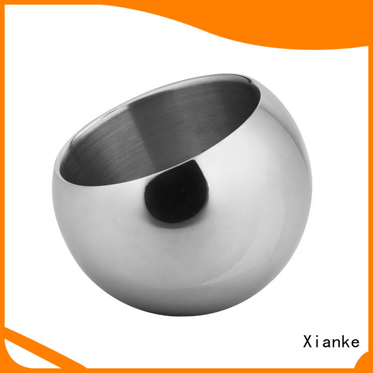Xianke oval wine ice bucket stainless steel tong for restaurant