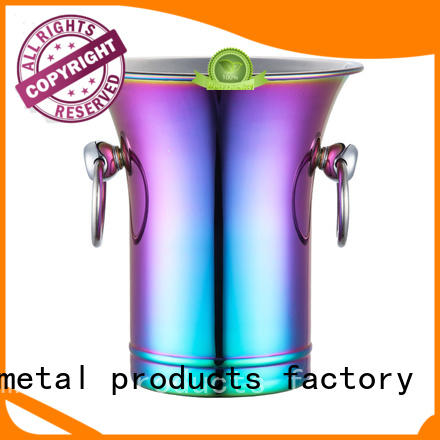 double walled ice bucket supplier high quality horn mouth for party
