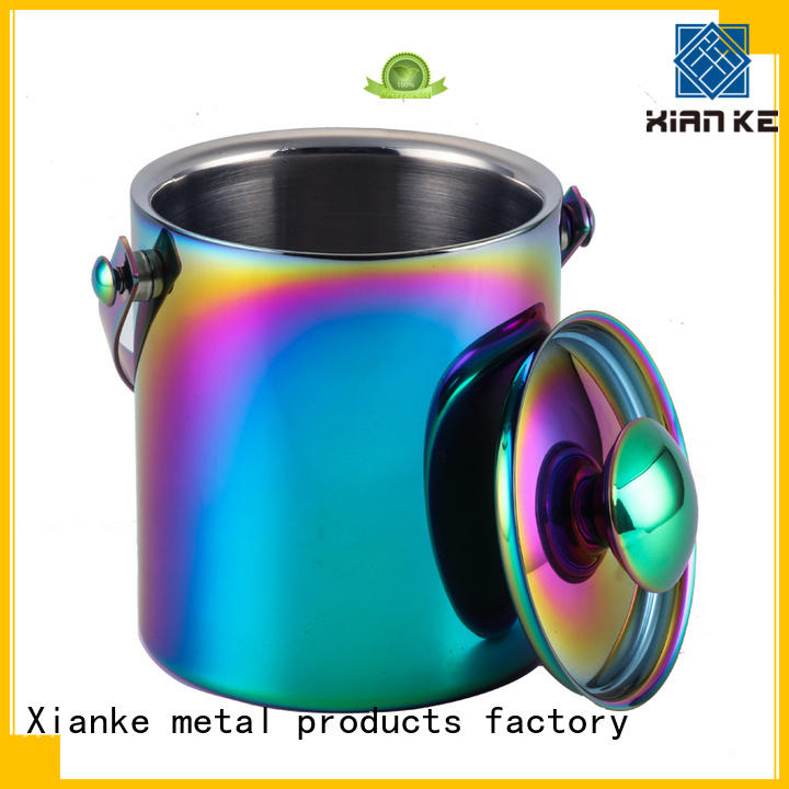 Xianke high quality stainless wine cooler buckets loop for bar