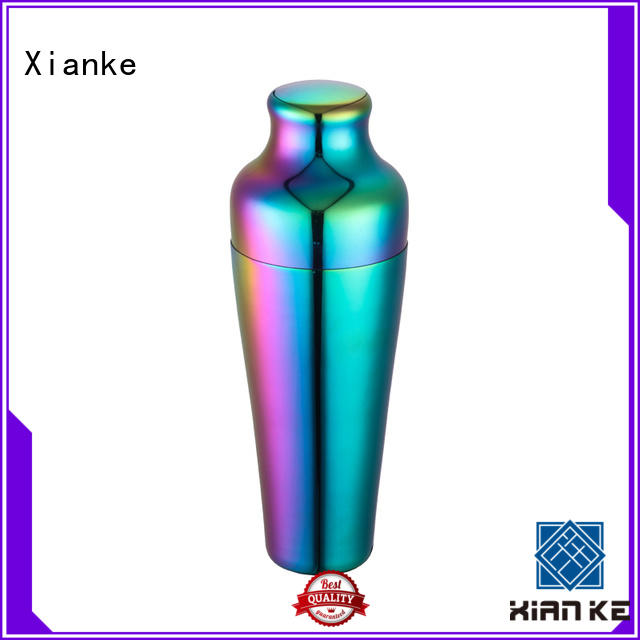 Xianke cheapest stainless steel cocktail shaker novelty for wholesale