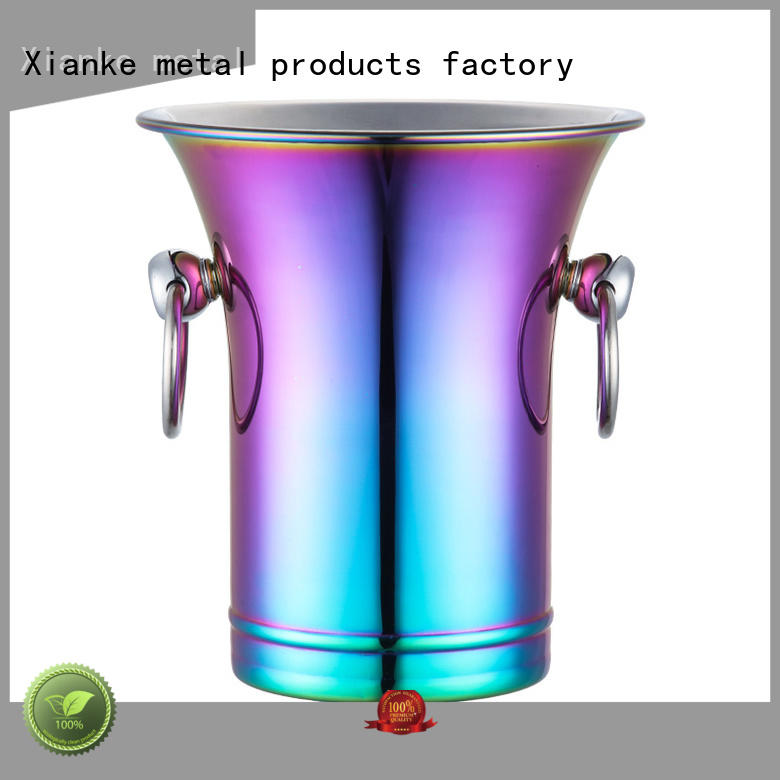oval ice bucket double wall durable sloped for party