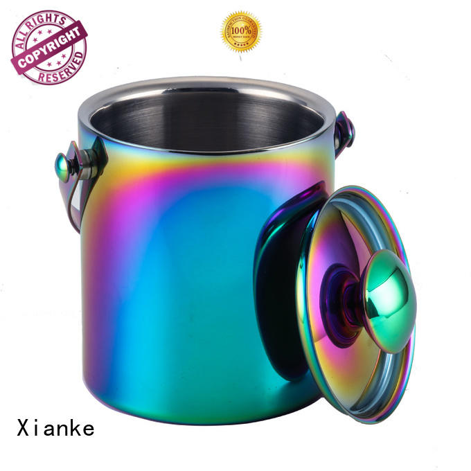 Xianke high quality stainless steel drink bucket tong for bar