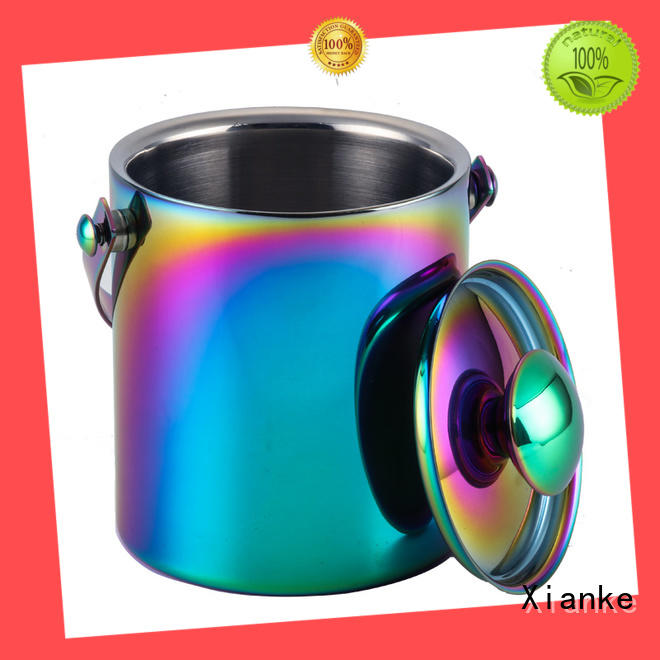Xianke shaped personalized stainless steel ice bucket ball for gathering