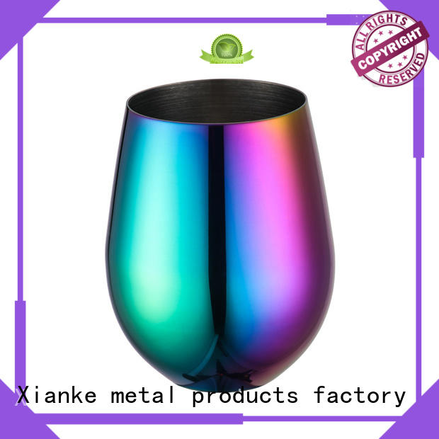 popular best stainless steel tumbler zinc alloy for martini Xianke