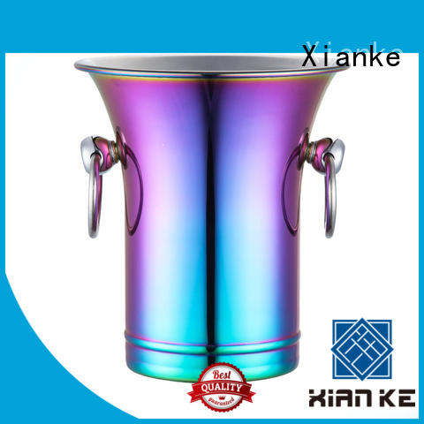 highly-rated stainless steel ice bucket on stand high quality for party Xianke