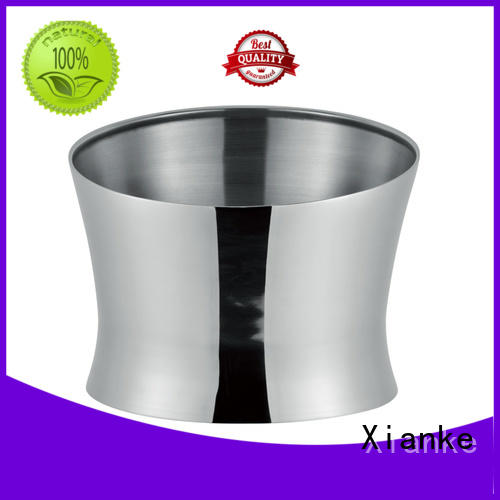 Xianke stainless steel personalized metal ice bucket sloped for wine