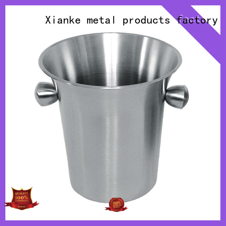 Xianke oval stainless wine cooler buckets bottle for gathering
