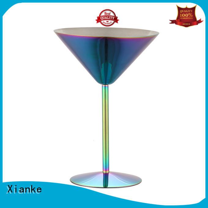 Xianke high quality wine glass zinc alloy for margarita