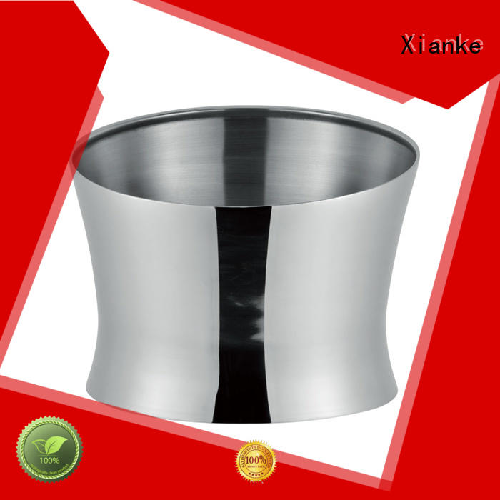 Stainless steel wine cooler with large capacity 9.5L and cut sloped mouth design