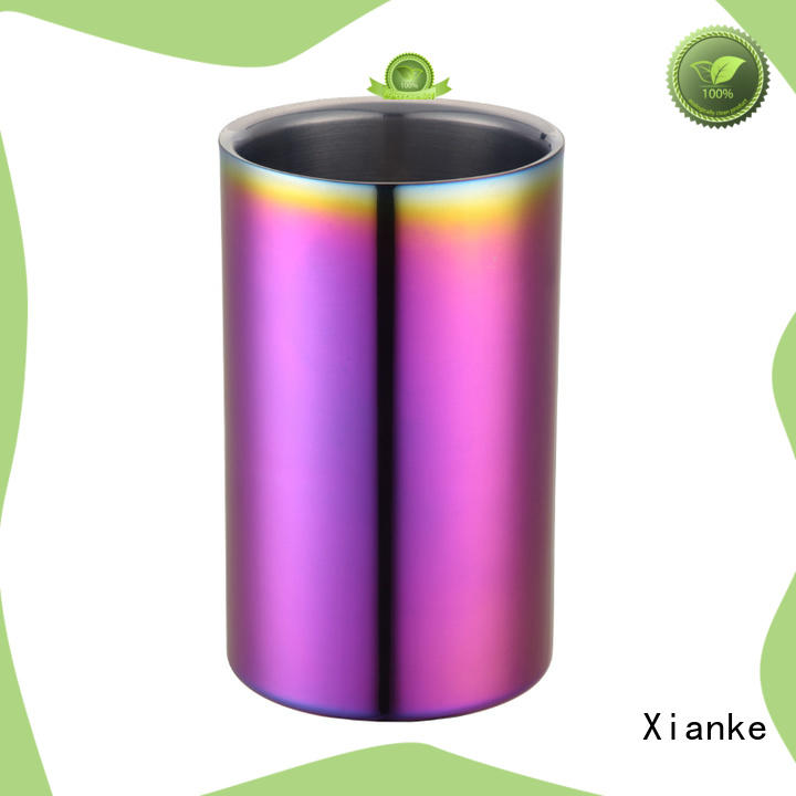 Xianke oval stainless wine bucket with lid for bar