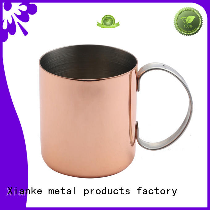 Stainless steel copper mug with handle in 14oz ED-8