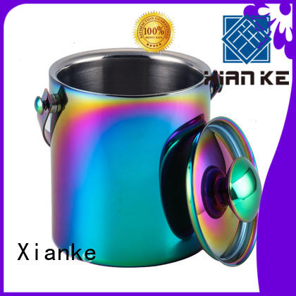 Xianke double walled stainless steel drink bucket horn mouth for club