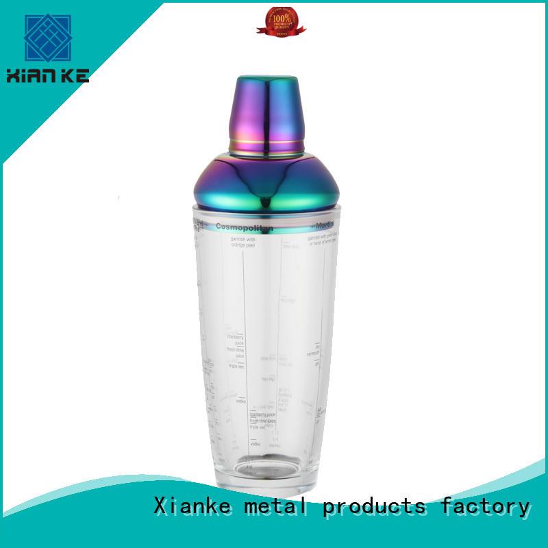 hot-sale steel cocktail shaker rocket for martini Xianke