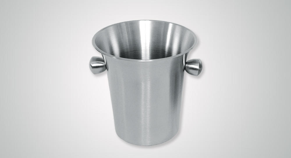 Stainless steel wine ice bucket with horn mouth and side handles in 3.5L design-1