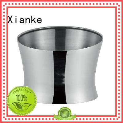 Xianke stainless wholesale stainless steel ice bucket double club