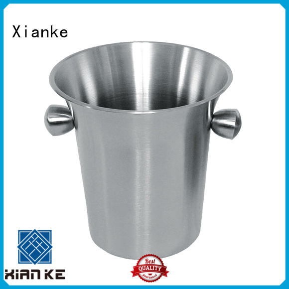 Xianke stainless steel beer bucket horn mouth for club