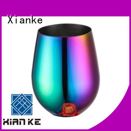 Xianke cheap stainless steel goblet tumbler for beer
