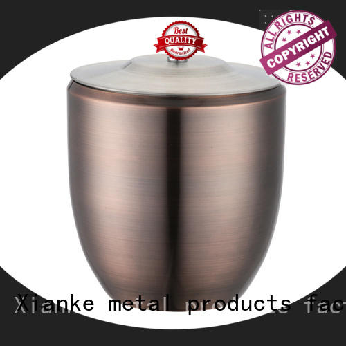 double walled steel ice bucket high quality carry for restaurant