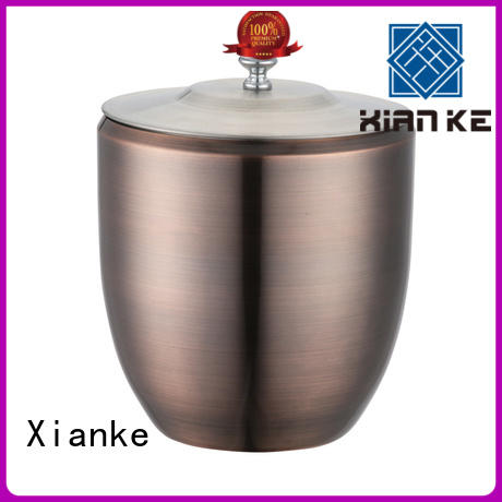 Stainless steel ice bucket with lid and carry handle in 1800ml