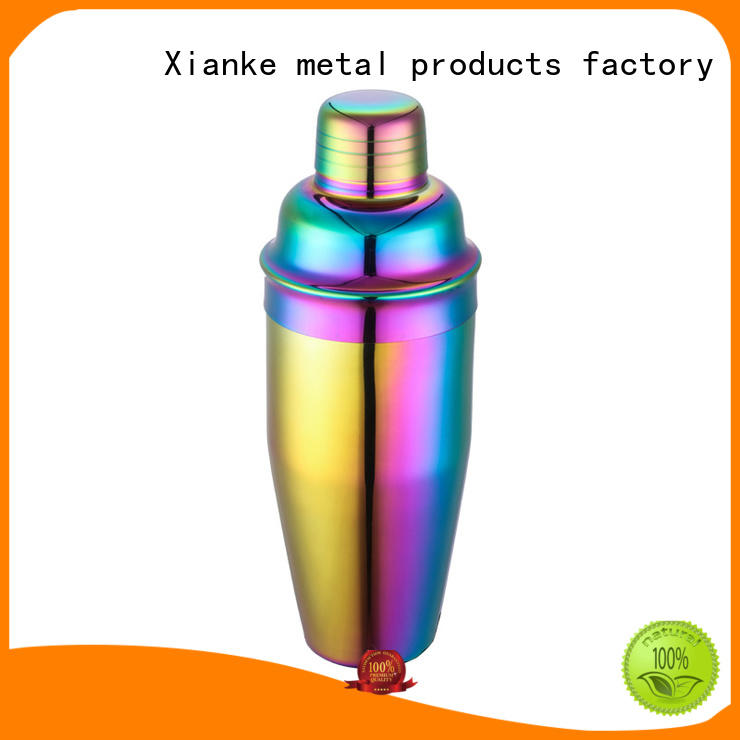 Stainless steel bar shaker with 200ml, 300ml, 500ml, 700ml classic 3-piece design