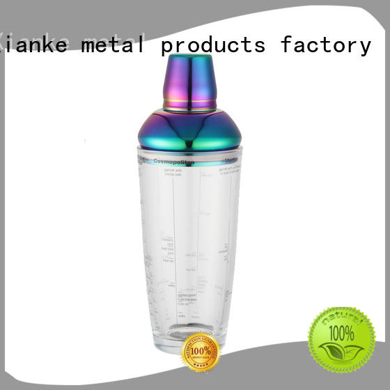 Xianke stainless steel stainless steel drink shaker novelty for cocktail