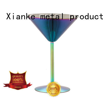 double stemless wine tumbler hot-sale zinc alloy for martini