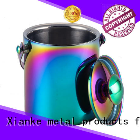 Xianke capacity personalized ice bucket stainless steel bottle club