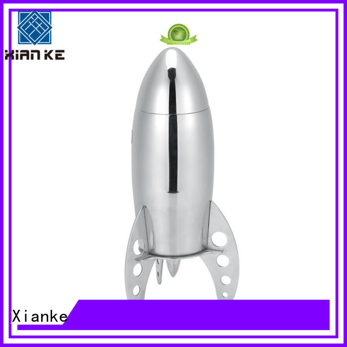 Xianke factory price stylish cocktail shaker rocket for vodka