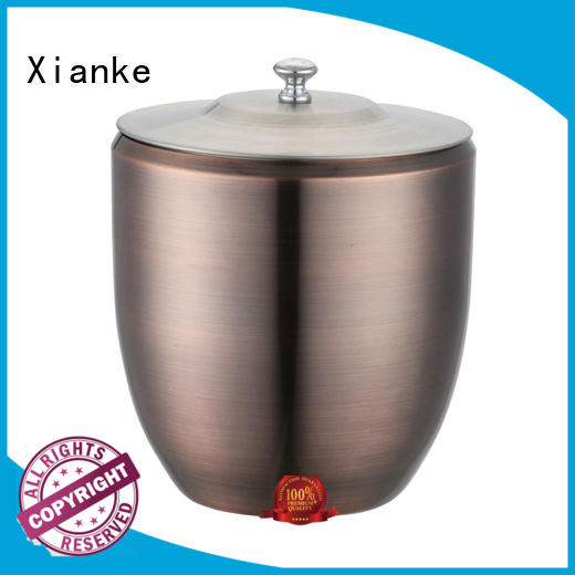 high quality hammered stainless steel ice bucket durable for party Xianke