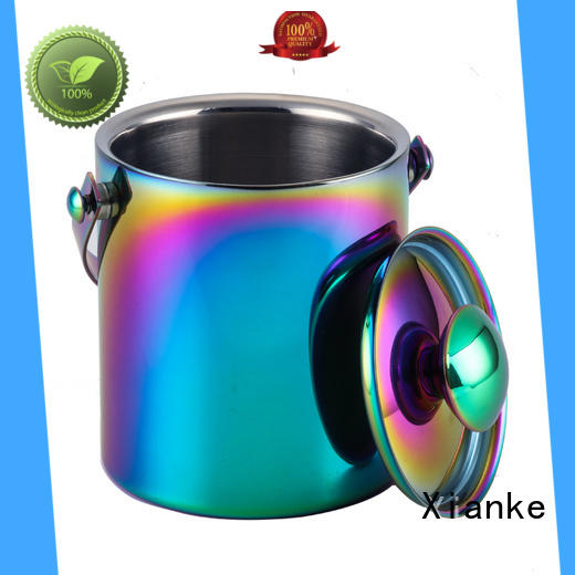 stainless steel ice buckets wholesale side club Xianke