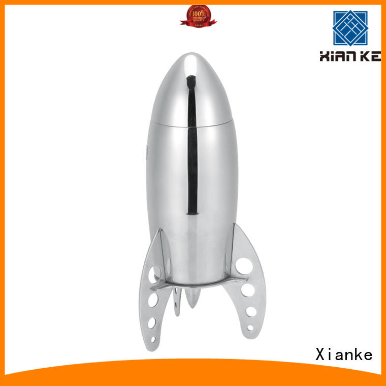 Stainless steel rocket cocktail shaker with novelty design 500ml, 700ml