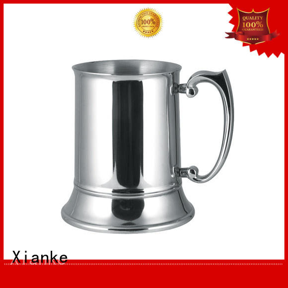 Xianke double stainless steel beer tankard high quality for wine
