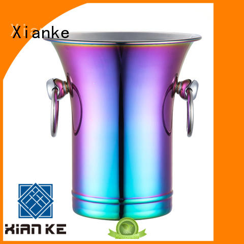 Xianke large capacity stainless steel ice buckets wholesale zinc alloy for club