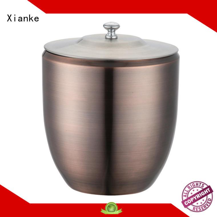 Xianke durable personalised metal ice bucket handle for restaurant