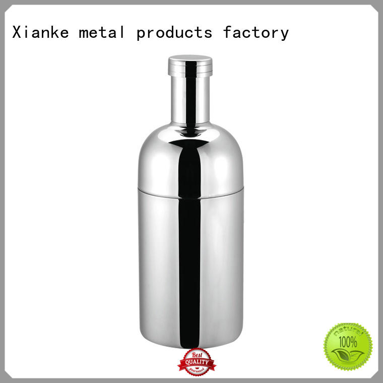 Xianke factory price steel cocktail shaker glass for vodka