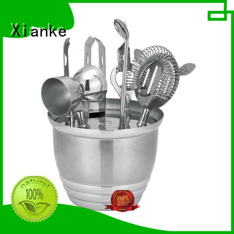 Xianke stainless personalized cocktail set gunblack barware