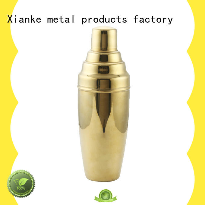 Xianke stainless steel shaker suppliers for cocktail