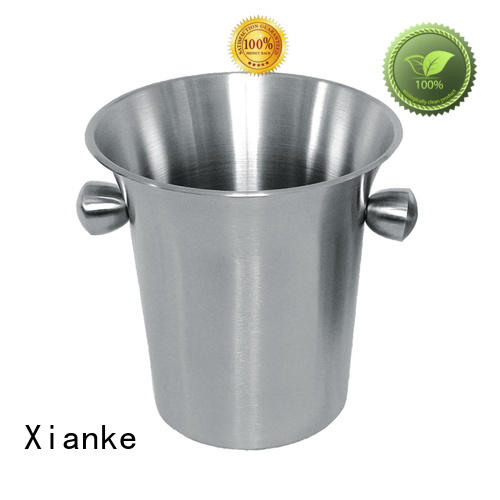 highly-rated stainless steel ice buckets wholesale side for party