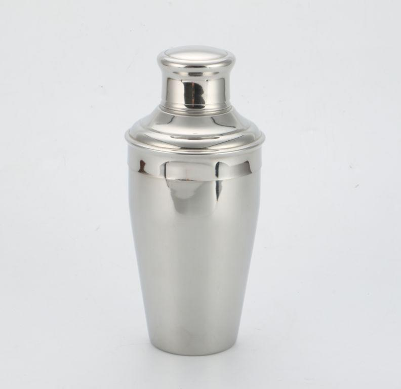 Stainless steel bar shaker with 500ml, 700ml classic 3-piece design