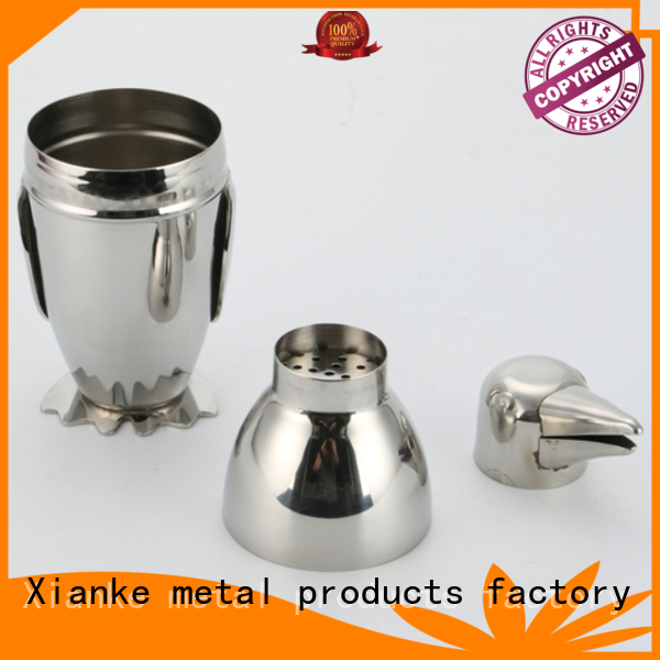top selling stainless drink shaker hot-sale for vodka Xianke